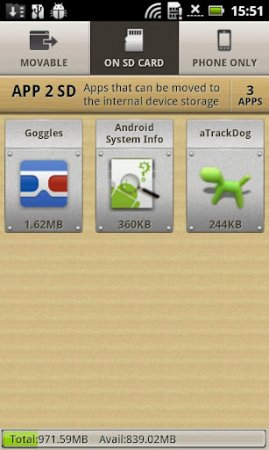 دانلود AppMgr Pro III (App 2 SD) 4.58 - برنامه انتقال برنامه ها از گوشی به مموری کارت اندروید