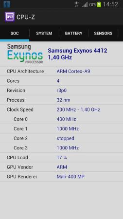 دانلود سی پیو زد CPU-Z Premium 1.25 برنامه نمایش مشخصات سخت افزاری گوشی اندروید