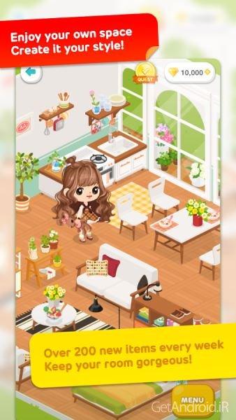 تصویر از دانلود LINE Play 8.4.0.0 بازی دخترانه تزیین خانه برای اندروید