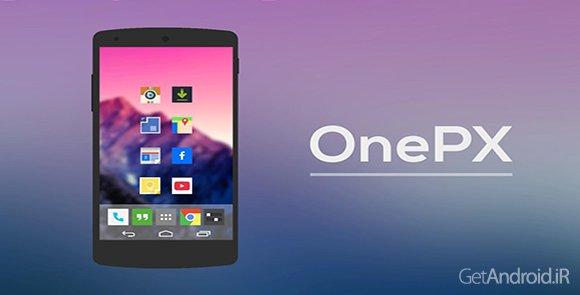 دانلود OnePX - Icon Pack 8.5 - مجموعه آیکون وان پی ایکس اندروید