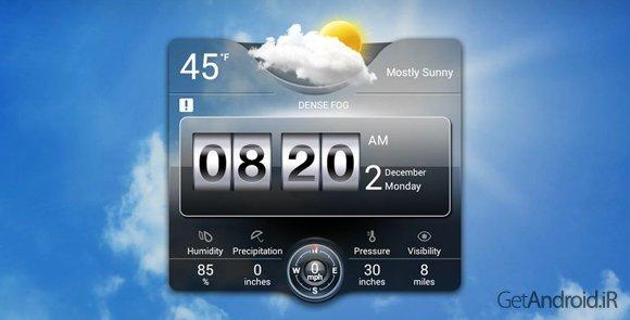 دانلود Weather Live 5.7 - زیباترین برنامه پیش بینی هوا برای اندروید