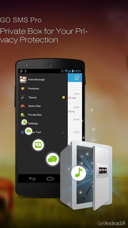 دانلود GO SMS Pro Premium 7.21 – بهترین نرم افزار مدیریت اس ام اس اندروید + پلاگین ها + فایل زبان فارسی