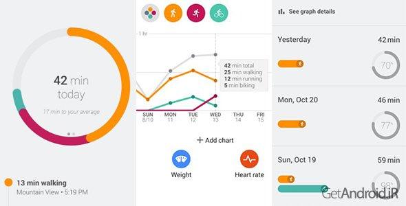 دانلود Google Fit 1.73.06-130 - برنامه گوگل فیت برای اندروید