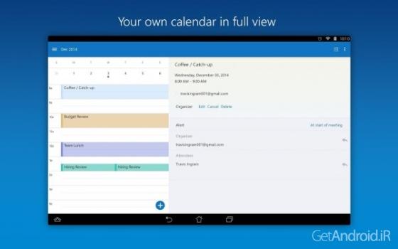 دانلود Microsoft Outlook Preview 1.3.6 برنامه آوت لوک مایکروسافت اندروید