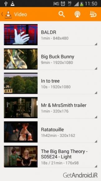 دانلود VLC for Android 2.5.5   – پخش کننده صوتی و تصویری اندروید