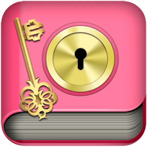 Diary notes - with lock icon