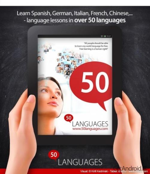 دانلود Learn 50 languages 10.6 برنامه یادگیری 50 زبان خارجی + فارسی اندروید