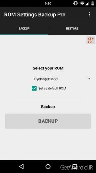 دانلود ROM Settings Backup Pro 2.46 برنامه پشتیبان گیری از تنظیمات رام اندروید