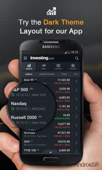 دانلود Stocks, Forex, News & Futures 4.2  برنامه فارکس اندروید
