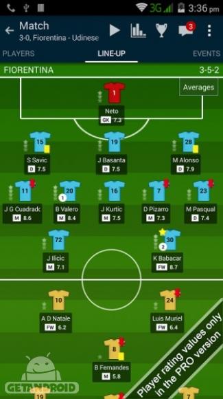 دانلود Soccer Center PRO (Live Score) v3.4.0 - برنامه نمایش لحظه ای نتایج فوتبال برای اندروید