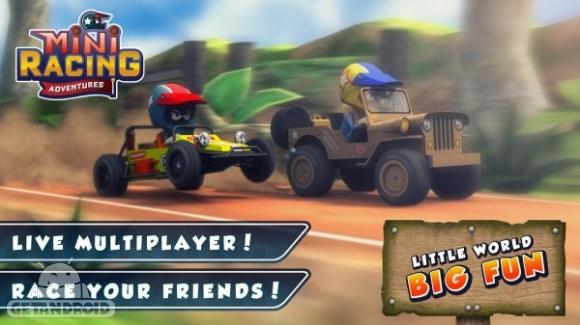 1429802836 mini racing adventures 1 دانلود Mini Racing Adventures 1.2   بازی رالی فانتزی اندروید + نسخه مود