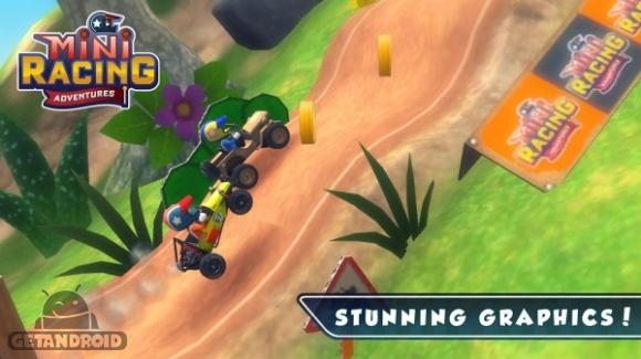 1429802862 mini racing adventures 4 دانلود Mini Racing Adventures 1.2   بازی رالی فانتزی اندروید + نسخه مود