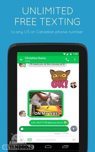 دانلود نکست پلاس Nextplus Free SMS Text + Calls 2.1.8 - برنامه تماس و پیام رایگان برای اندروید