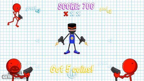 دانلود Gun Fu: Stickman 2 v1.2.0 - بازی آدمک تیرانداز برای اندروید + مود