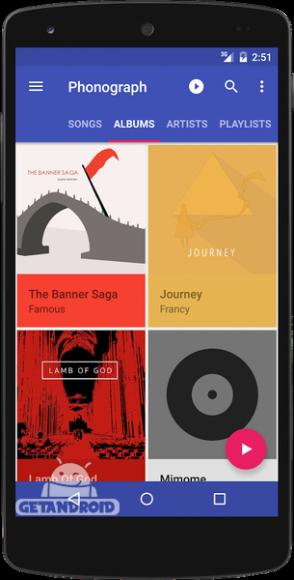 دانلود Phonograph Music Player 0.16.5 - موزیک پلیر فونوگراف برای اندروید