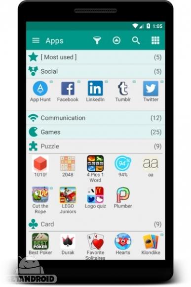 دانلود Glextor App Mgr & Organizer 5.17.1.416 نرم افزار مدیریت برنامه های اندروید