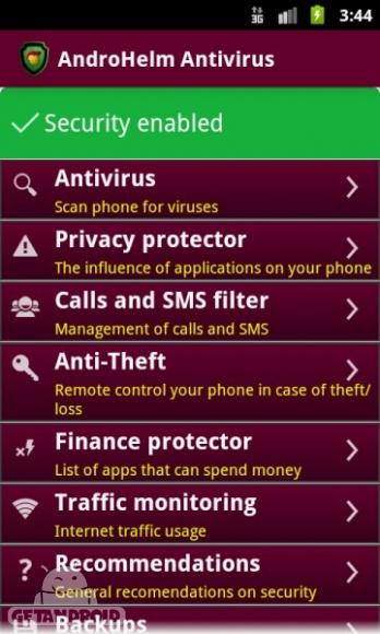 دانلود AntiVirus Android. v2.5.6 بهترین و گرانترین برنامه آنتی ویروس اندروید