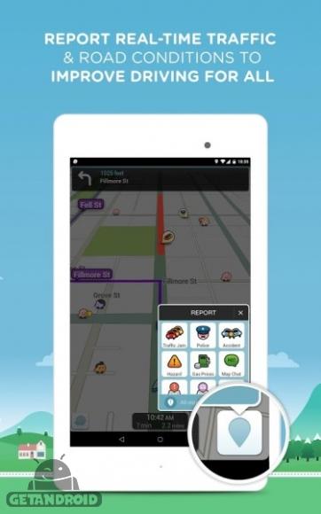 دانلود Waze Social GPS Maps & Traffic 4.21.0.0  برنامه نقشه های GPS و ترافیک اندروید
