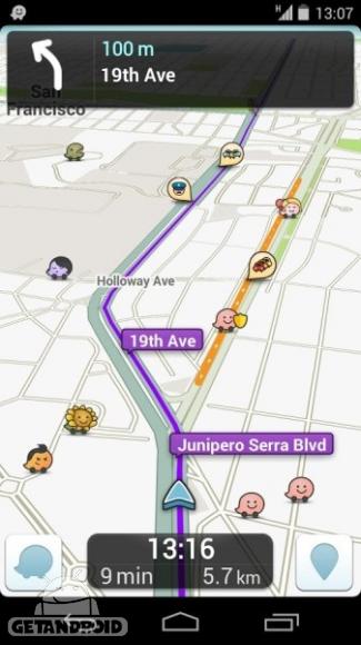 دانلود Waze Social GPS Maps & Traffic 4.38.1.904    برنامه نقشه های GPS و ترافیک اندروید