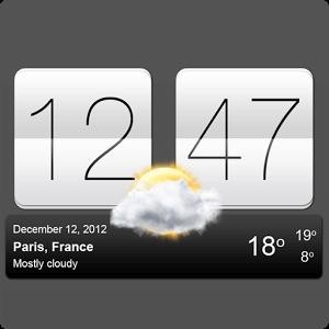دانلود Sense V2 Flip Clock & Weather 4.00.01 ویجت هواشناسی اچ تی سی اندروید