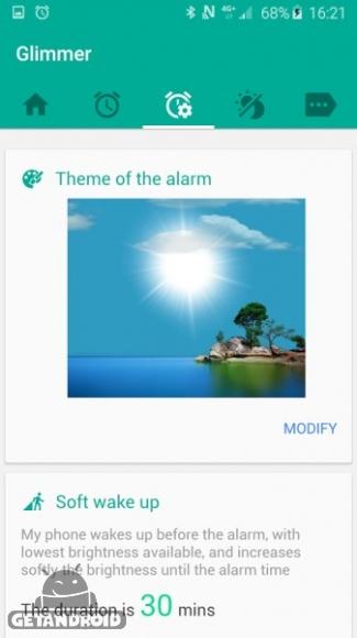 دانلود Glimmer (luminous alarm clock) Premium 2.0.23 ساعت زنگ دار درخشان اندروید