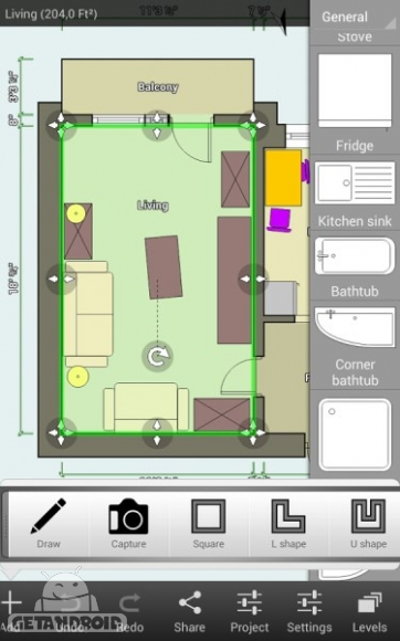 floor plan creator 3.1.3 برنامه طراحی نقشه خانه برای اندروید
