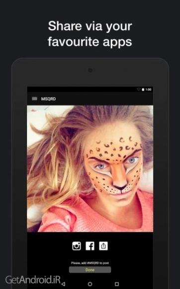 دانلود ام اس کیو آردی MSQRD 1.6.8 برنامه ساخت کلیپ سلفی و تغییر چهره اندروید