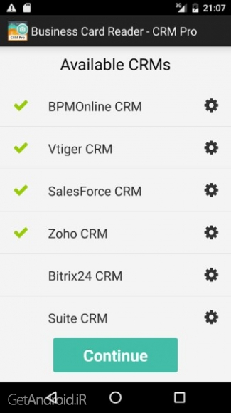 دانلود Business Card Reader - CRM Pro 1.1.56 نرم افزار اسکن کارت ویزیت اندروید