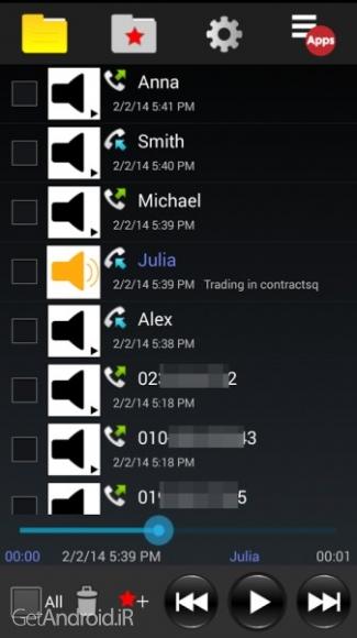 دانلود Auto Call Recorder - PRO v1.5.3 اپلیکیشن ضبط صدای خودکار اندروید