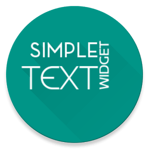 Simple Text Widget (Any Text) icon