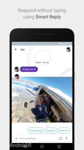 دانلود گوگل الو Google Allo 1.0.006_RC18 برنامه پیام رسان و مسنجر گوگل الو اندروید
