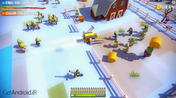 دانلود Dead Venture 1.2 بازی نابود کردن زامبی ها با تفنگ و ماشین اندروید