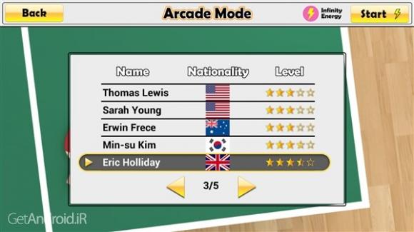 دانلود Virtual Table Tennis 1.0.23 بازی تنیس روی میز آنلاین اندروید