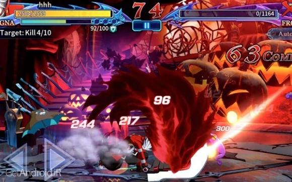 دانلود BlazBlue RR - Real Action Game 1.21 بازی اکشن بلیزبلو اندروید