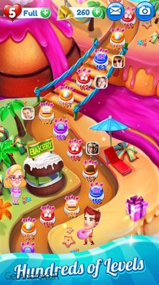 دانلود Crazy Cake Swap 1.20 بازی حذف کیک ها اندروید