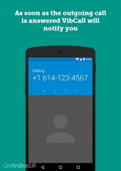 دانلود VibCall - Vibrate on answer v1.0.4 نرم افزار ویبره گوشی در هنگام برقراری تماس اندروید