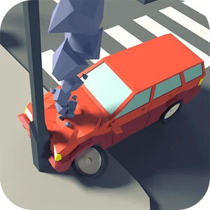 Crossroad crash icon