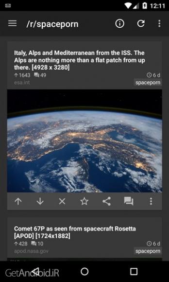 دانلود reddit is fun GP 4.8.22 نرم افزار خبرخوان ردیت اندروید