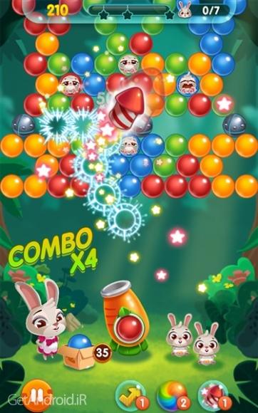 دانلود Bunny Pop 1.0.6 بازی پازلی ترکاندن حباب اندروید