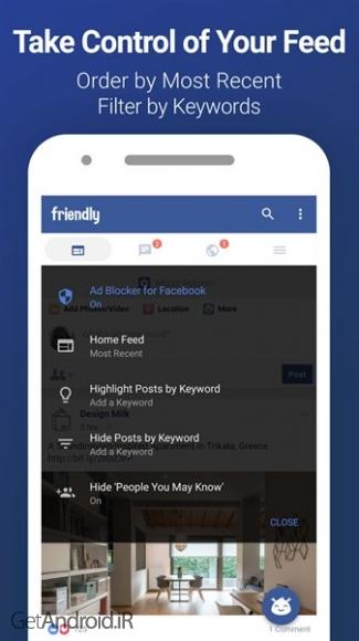 دانلود Friendly for Facebook 1.9.34 اپلیکیشن جایگزین فیس بوک اندروید