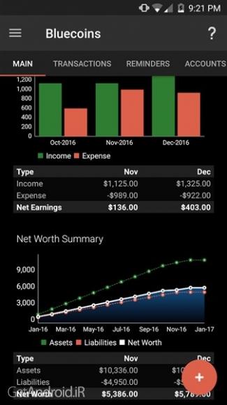 دانلود Bluecoins Finance And Budget Premium v301.31.02 برنامه مدیریت حساب شخصی برای اندروید