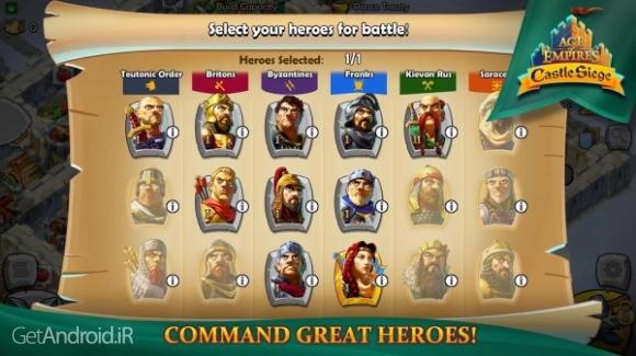 دانلود Age of Empires: Castle Siege 1.25.22 بازی عصر امپراطوری: محاصره قلعه اندروید