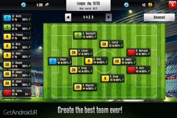 دانلود Football Champions 6.72 بازی مربیگری فوتبال آنلاین جام قهرمانان اندروید