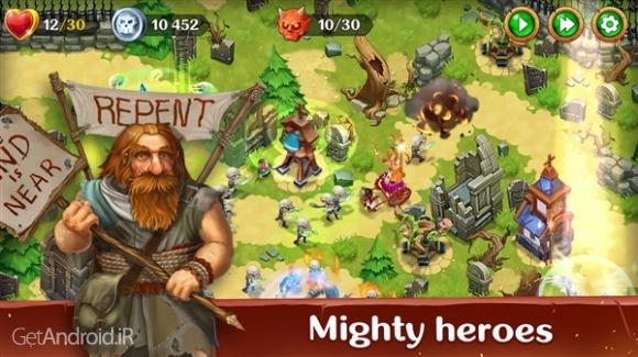 دانلود Holy TD: Epic Tower Defense 1.35 بازی دفاع از برج مقدس اندروید