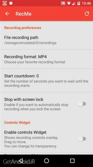 دانلود RecMe Free Screen Recorder 2.5.2c Pro برنامه فیلمبرداری از صفحه نمایش اندروید بدون نیاز به روت