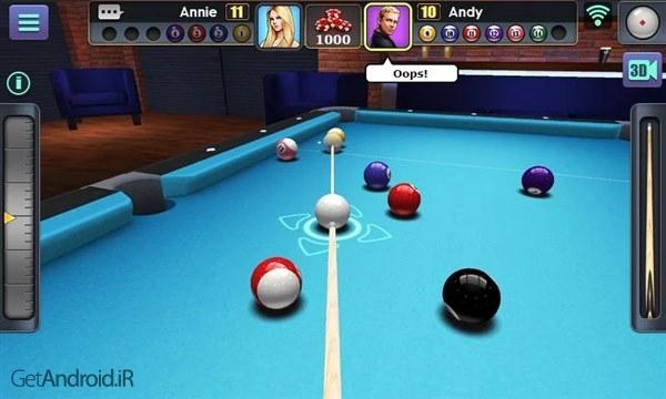 دانلود 3D Pool Ball 2.2.3.0 بازی بیلیارد سه بعدی برای اندروید