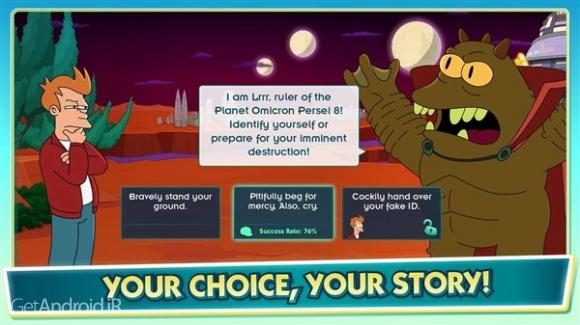 دانلود Futurama: Worlds of Tomorrow 1.5.3 بازی ماجراجویی اندرویدی