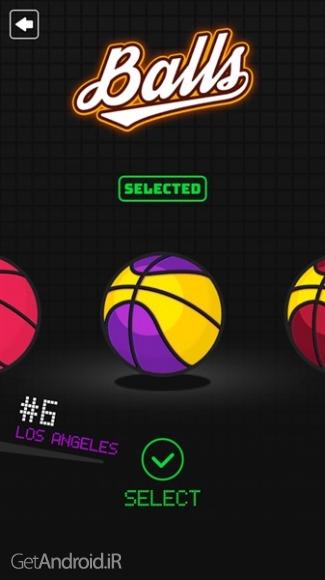 دانلود Dunkz 1.0.7 بازی بسکتبال کم حجم برای اندروید