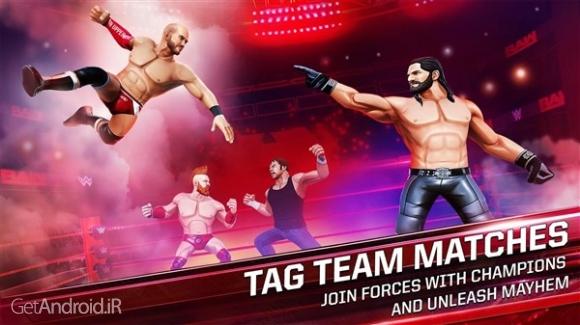دانلود WWE Mayhem 1.1.31 بازی کشتی کج 2018 اندروید