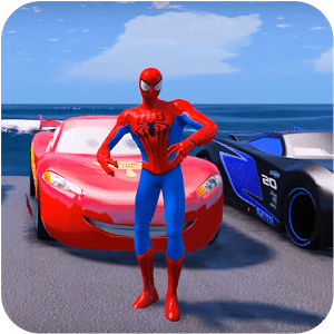 Superheroes Car Stunt Racing Games